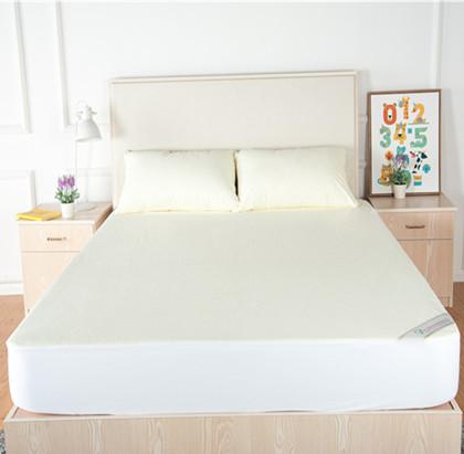 黄色毛巾布床罩