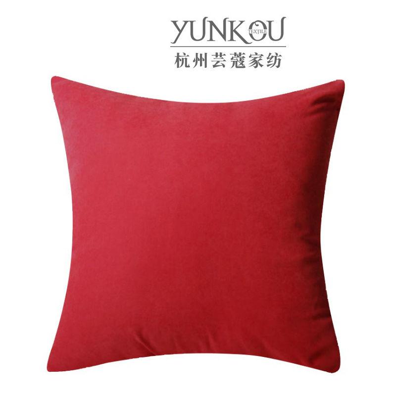 芸蔻 厂家直销聚酯纤维透气抱枕 拉链式靠枕 优质纯色枕头