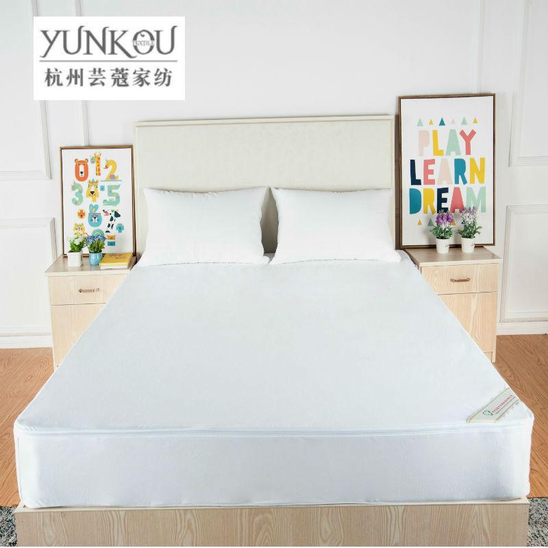 芸蔻 厂家热销防水防螨纯色透气床包 全棉汗布床笠床垫套