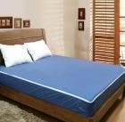Blue knitted fabric waterproof mattress encasement